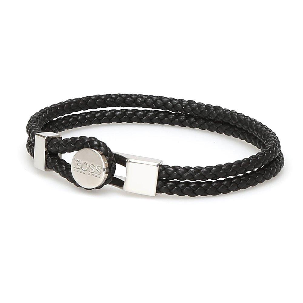 BOSS Batson Leather Men's Bracelet