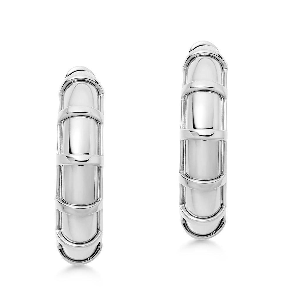 Links of London Brutalist Silver Hoop Earrings