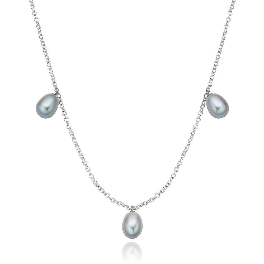 Silver Freshwater Cultured Pearl Necklace