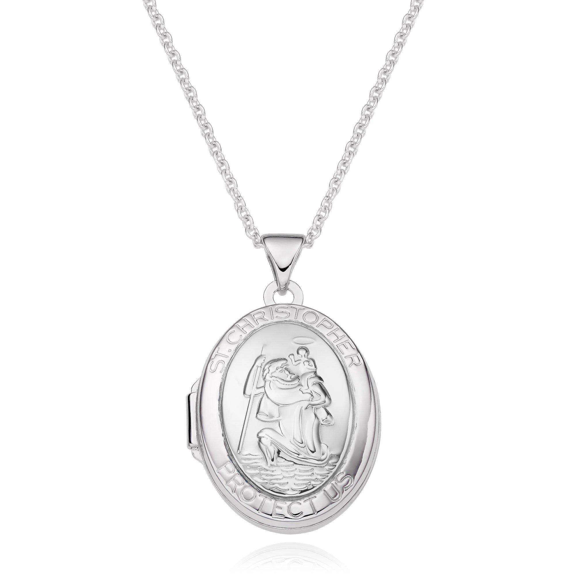 Silver St Christopher Locket