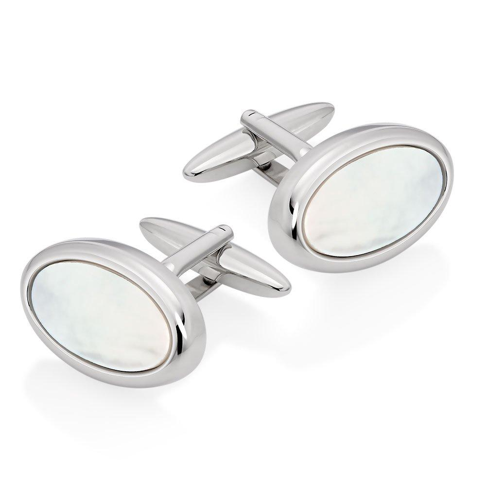 Mother Of Pearl Oval Men's Cufflinks