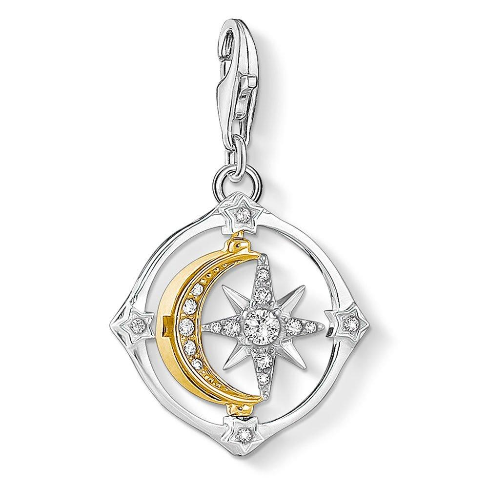 Thomas Sabo Silver and Gold Plated Compass Charm