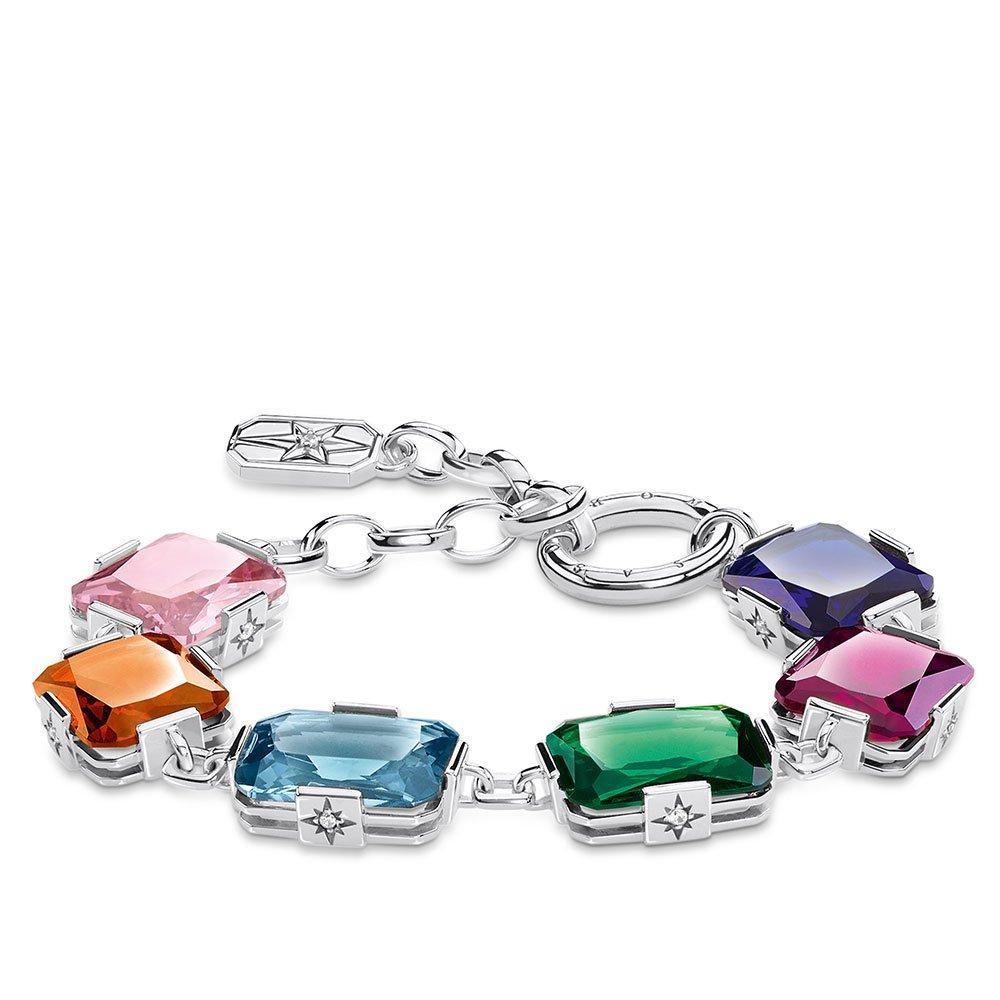Thomas Sabo Silver Colourful Stones Bracelet