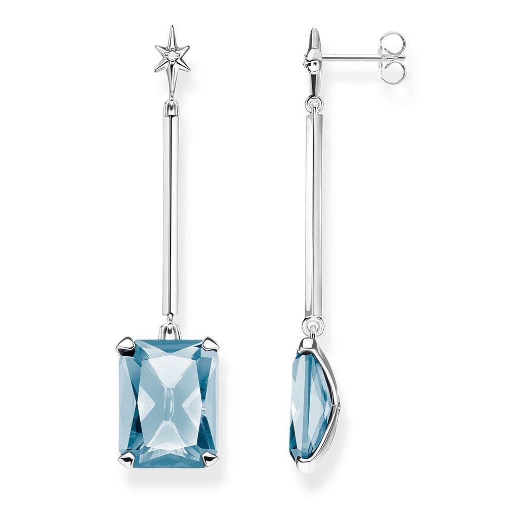 Thomas Sabo Silver Blue Magic Stones Star Drop Earrings