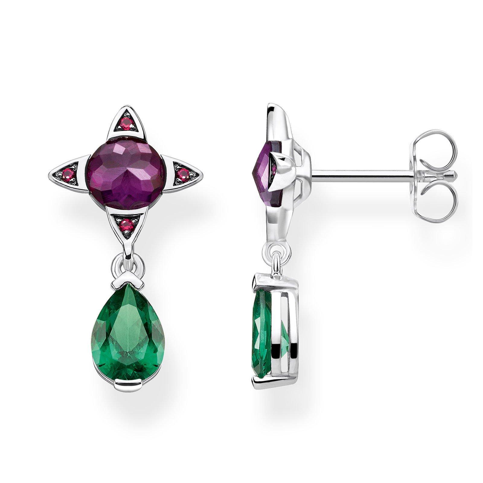 Thomas Sabo Silver Colour Drop Earrings