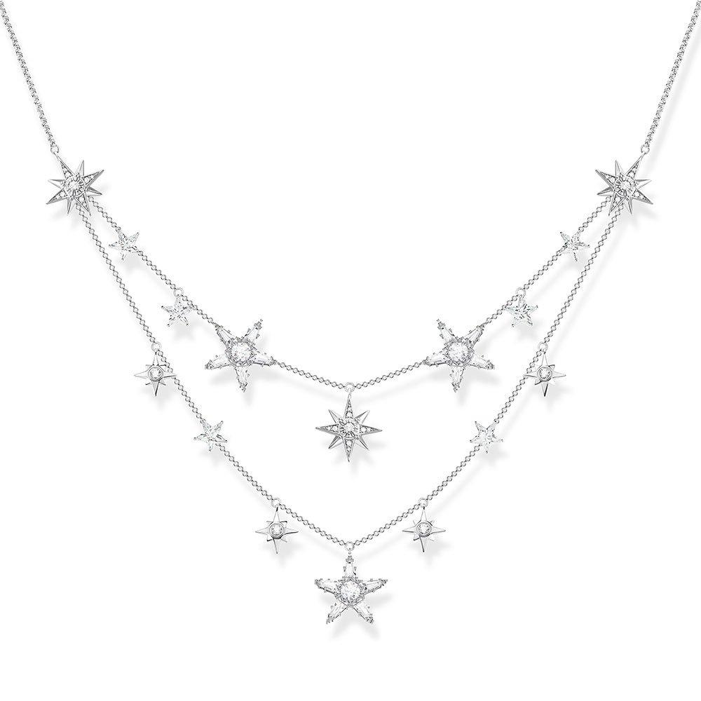 Thomas Sabo Silver Star Double Row Necklace