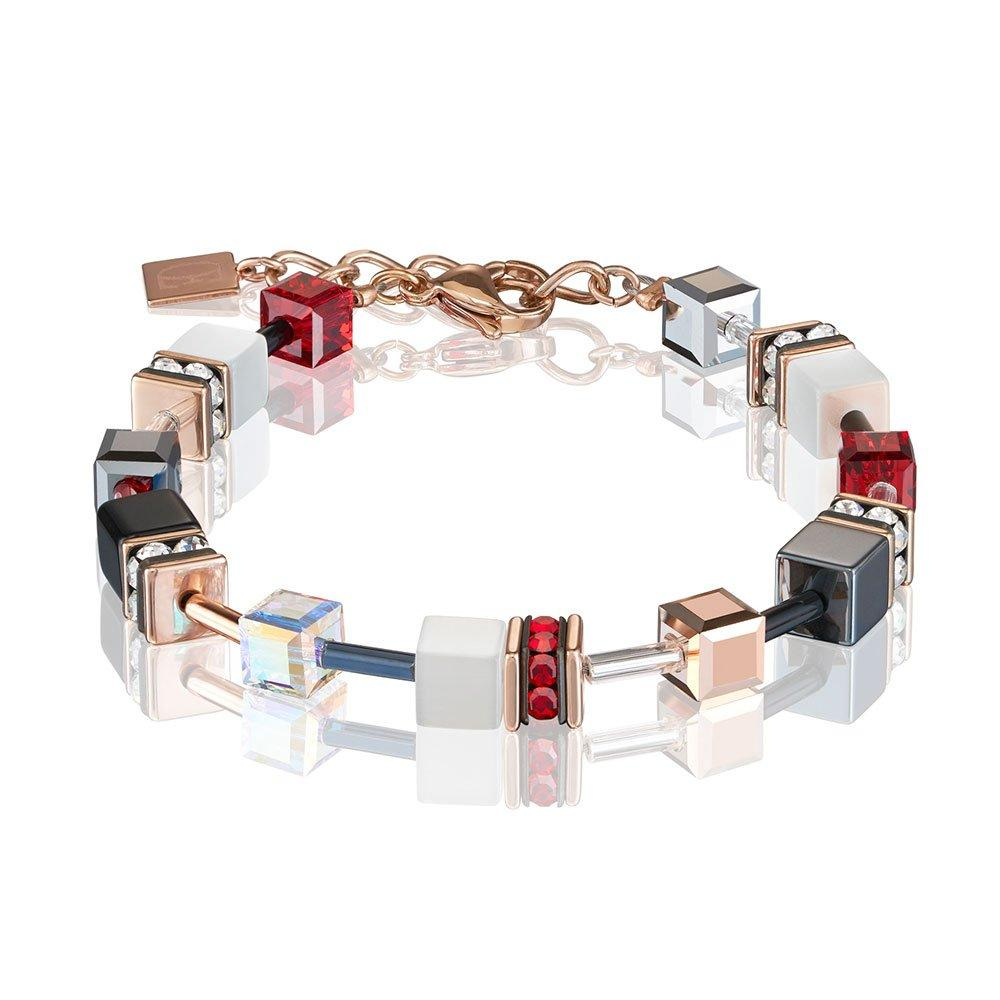Coeur De Lion Geocube Rose Gold Plated Crystal Bracelet