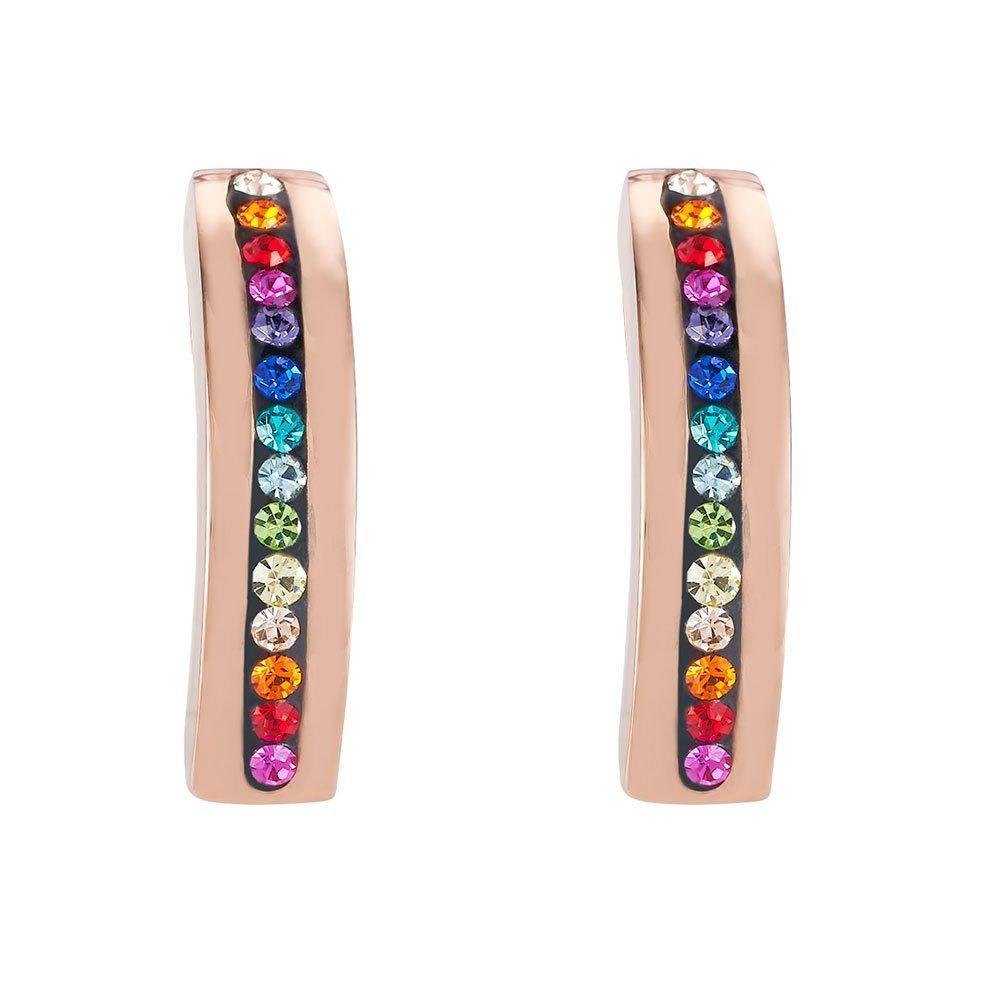 Coeur De Lion Rose Gold Plated Crystal Earrings