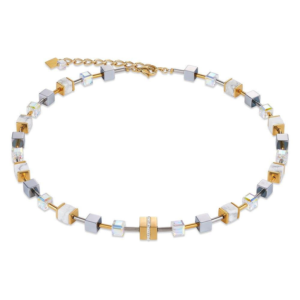 Coeur De Lion Howlite Gold Plated Crystal Necklace