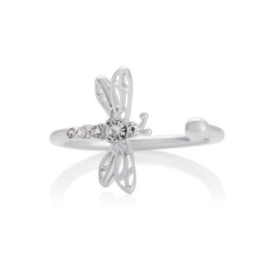 Olivia Burton Dancing Dragonfly Silver Tone Ring