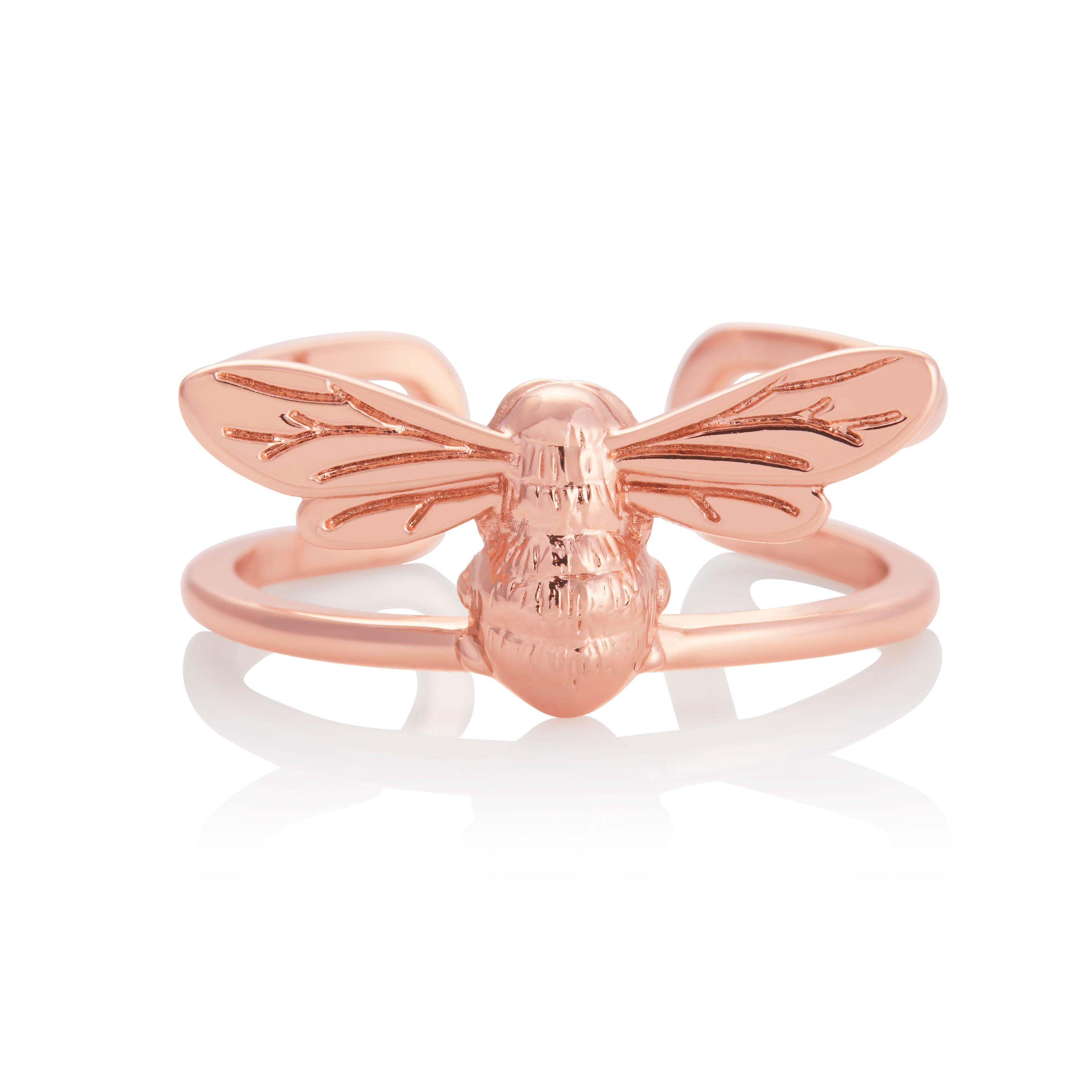 Olivia Burton Lucky Bee Rose Gold Tone Ring