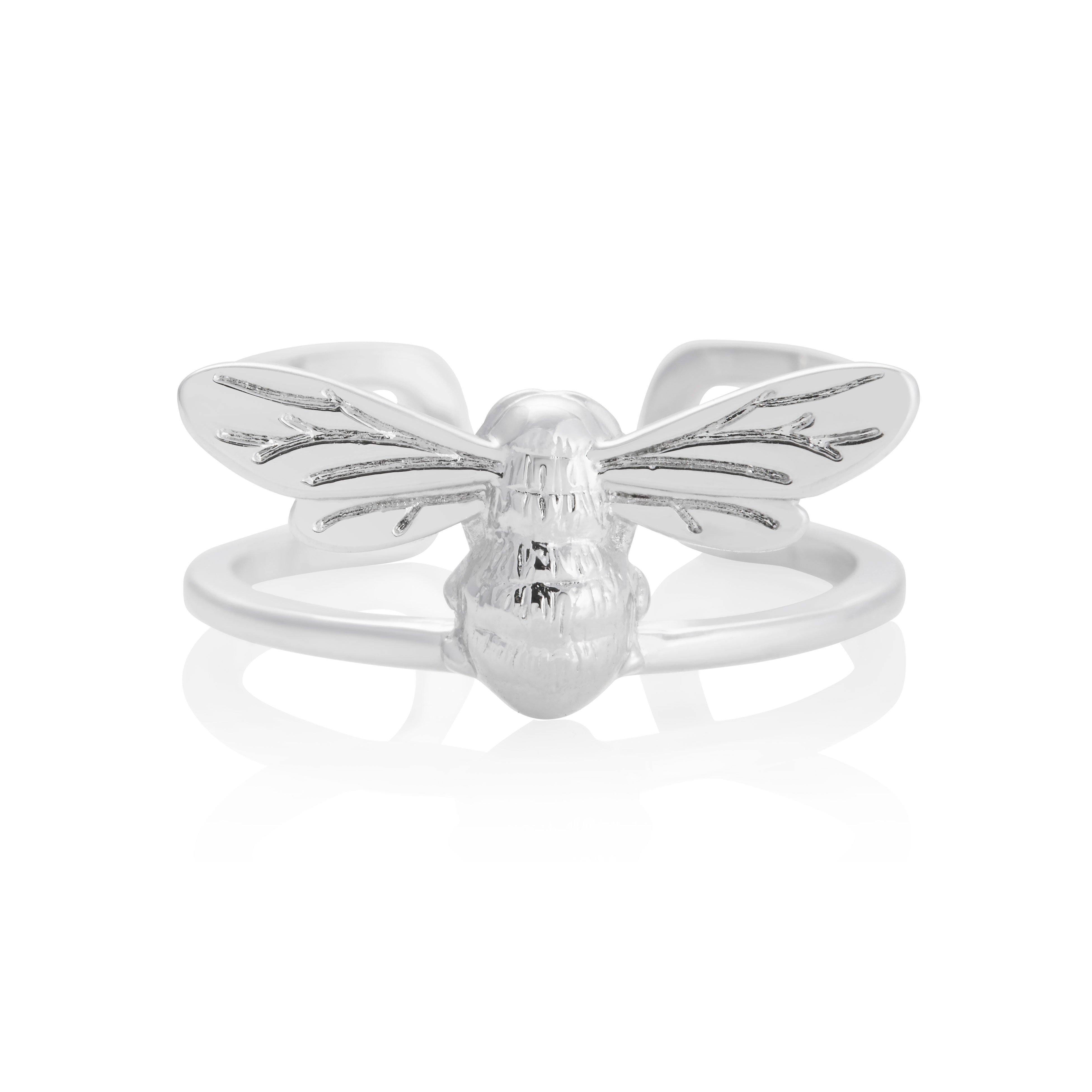 Olivia Burton Lucky Bee Silver Tone Ring