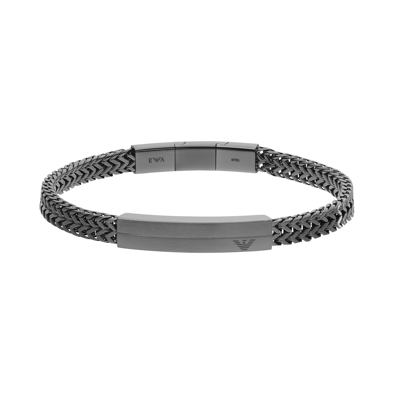 Emporio Armani Gunmetal Men's Bracelet