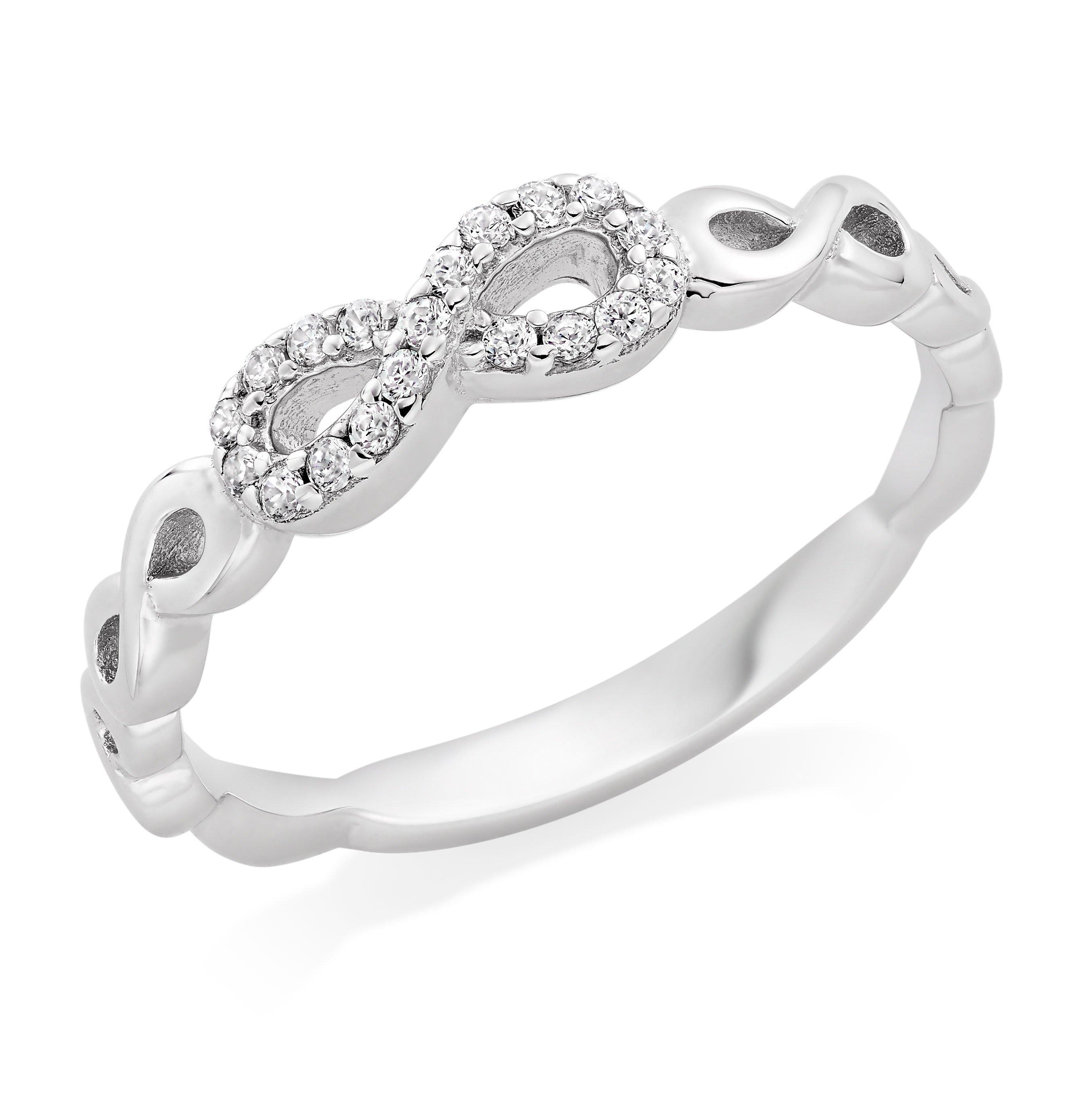 Silver Cubic Zirconia Infinity Ring