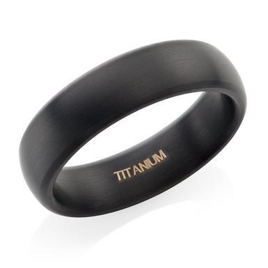 Titanium Black Matt Ring