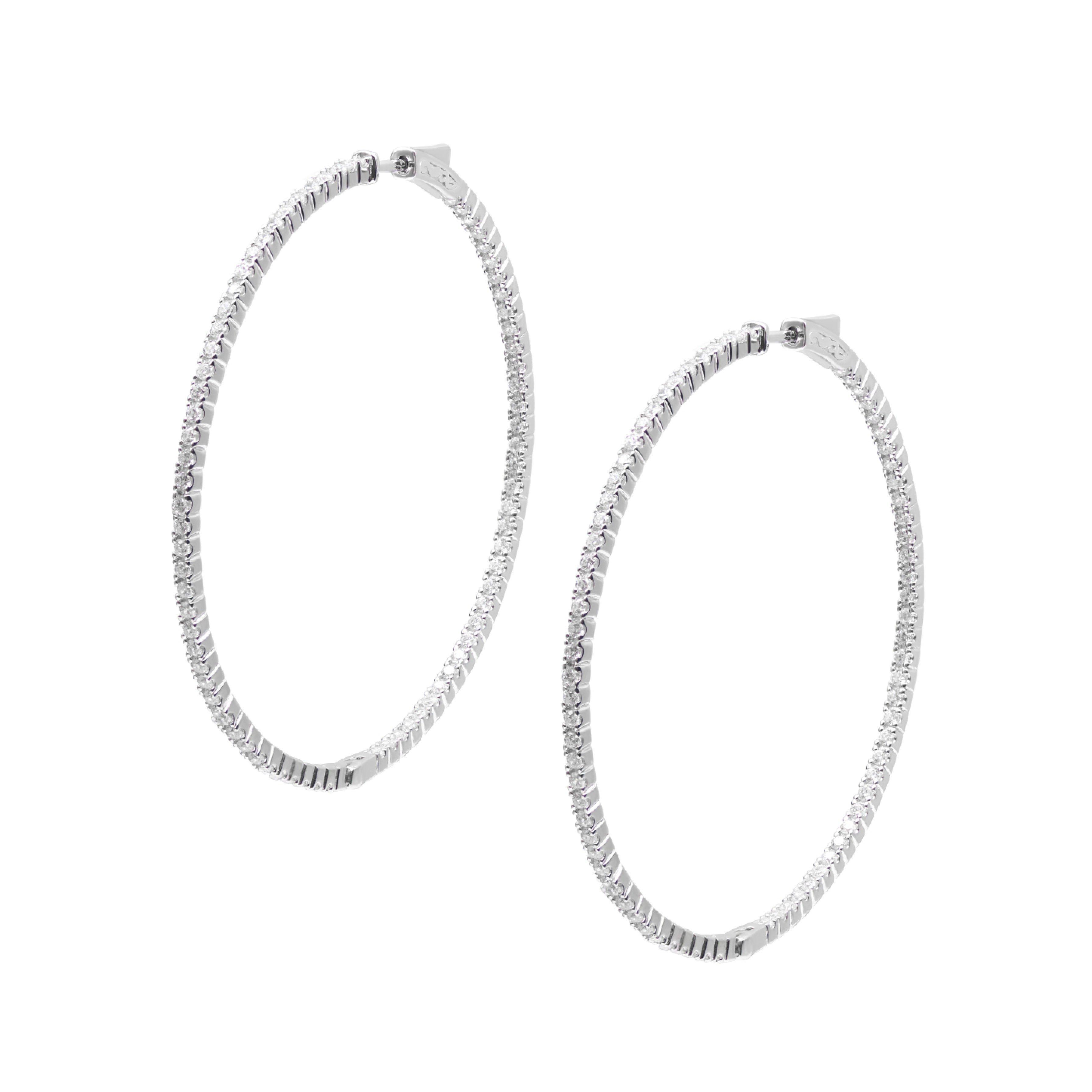 CARAT Paloma Silver Hoop Earrings