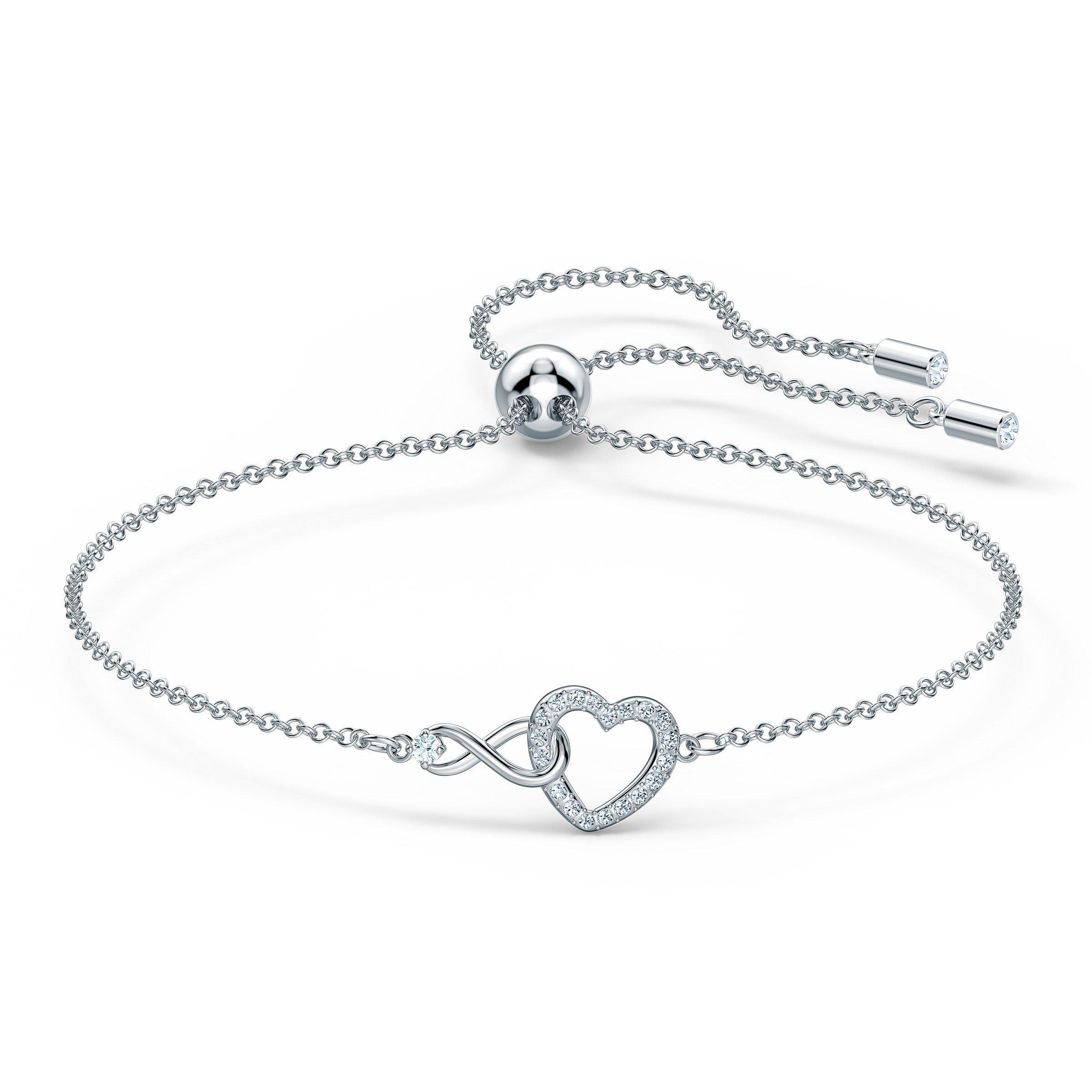 Swarovski Infinity Heart Silver Tone Bracelet