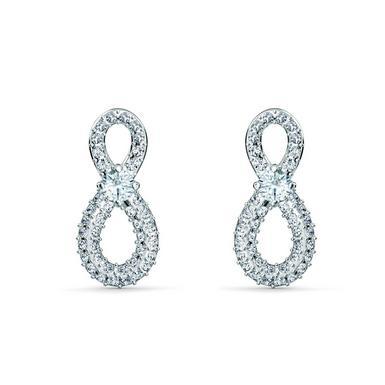 Swarovski Infinity Silver Tone Earrings