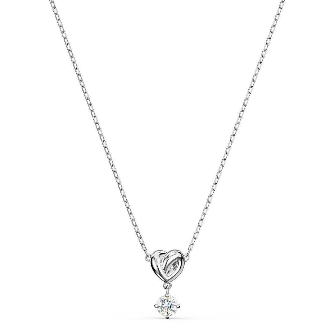 Swarovski Lifelong Heart Silver Tone Necklace