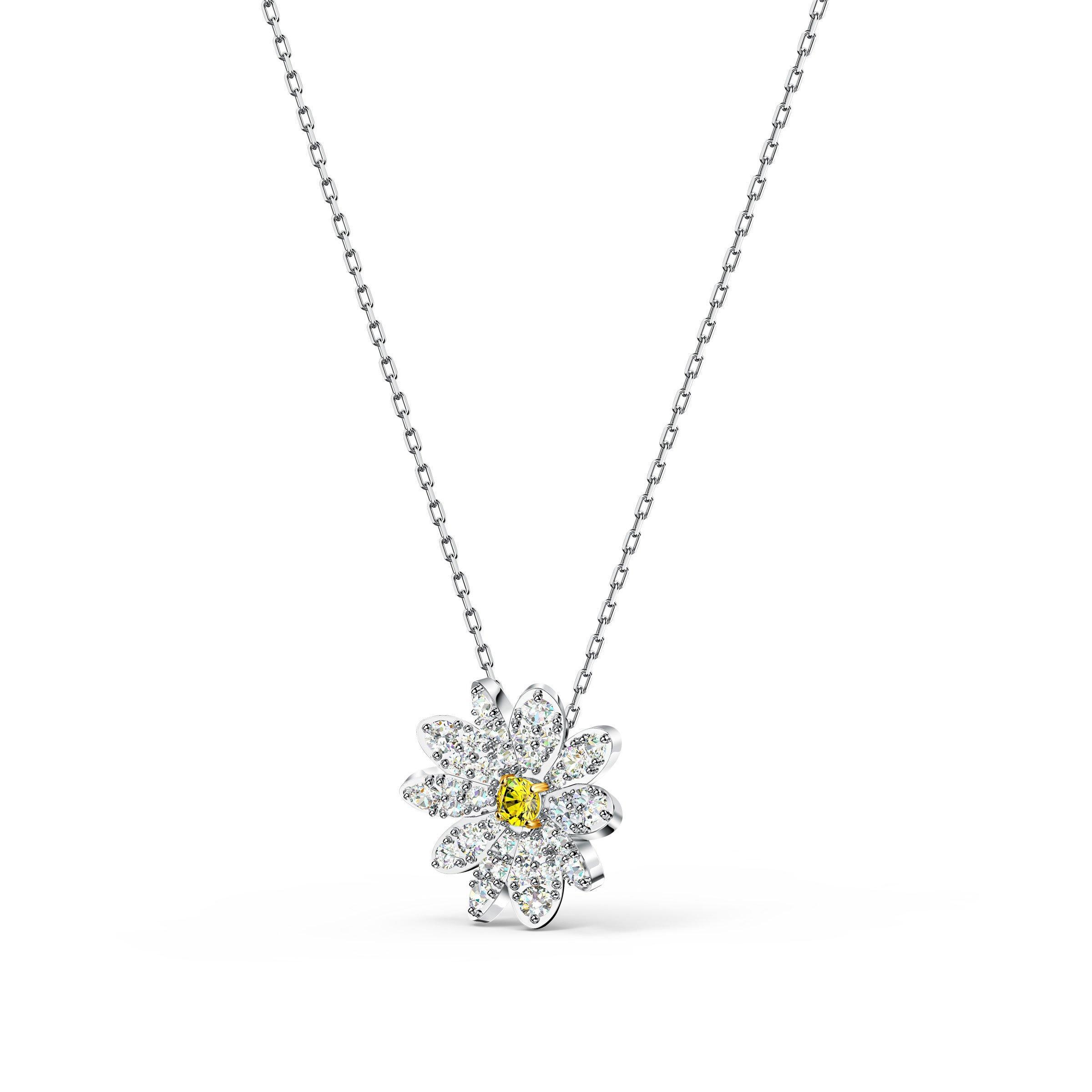 Swarovski Eternal Flower Silver Tone Pendant