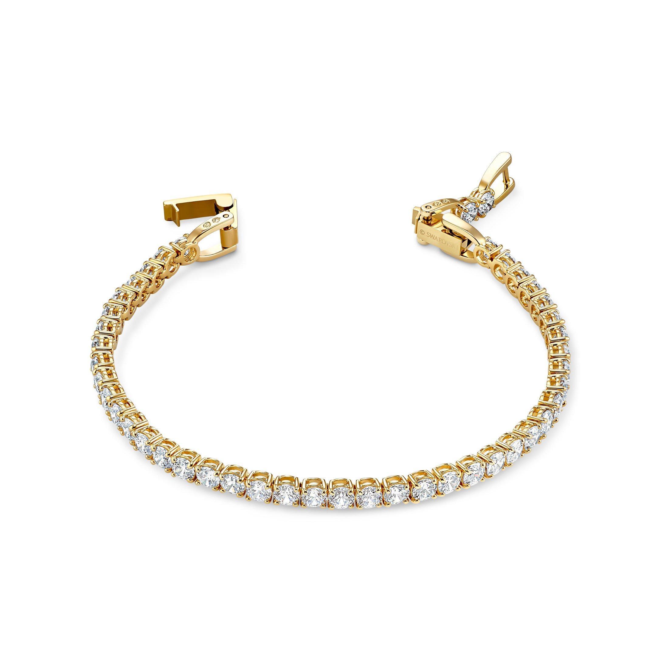 Swarovski Tennis Gold Tone Bracelet
