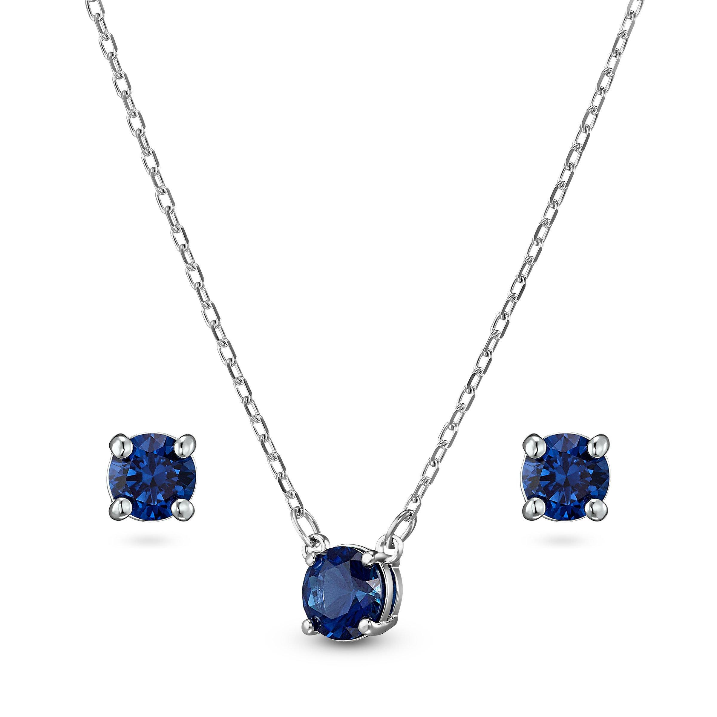 Swarovski Anniversary Necklace and Earrings Set