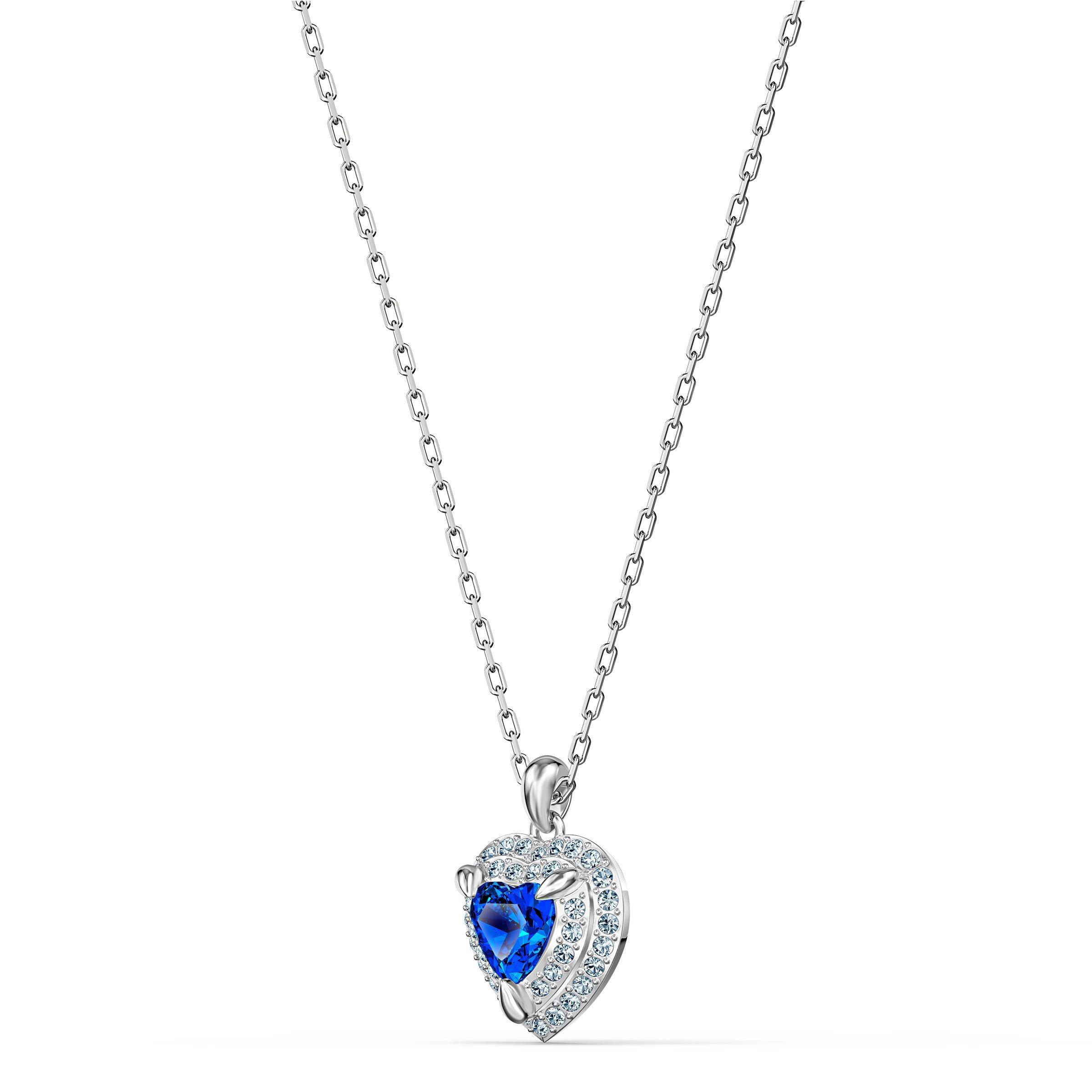 Swarovski Anniversary Heart Silver Tone Pendant