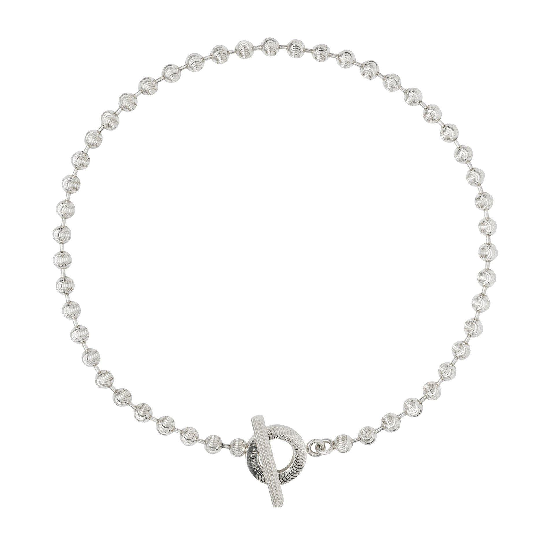 Gucci Boule Silver Necklace