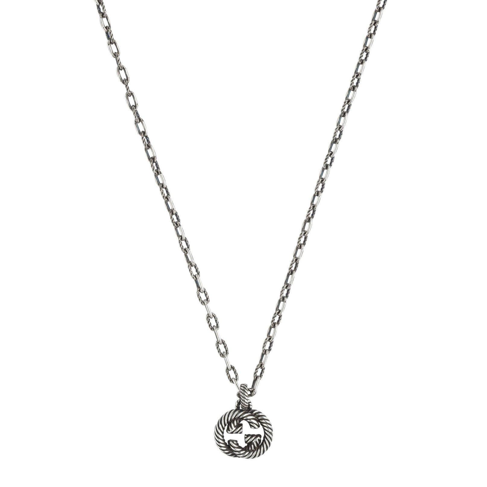 Gucci Interlocking G Silver Pendant