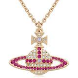 Vivienne Westwood Kika Rose Gold Tone Crystal Pendant