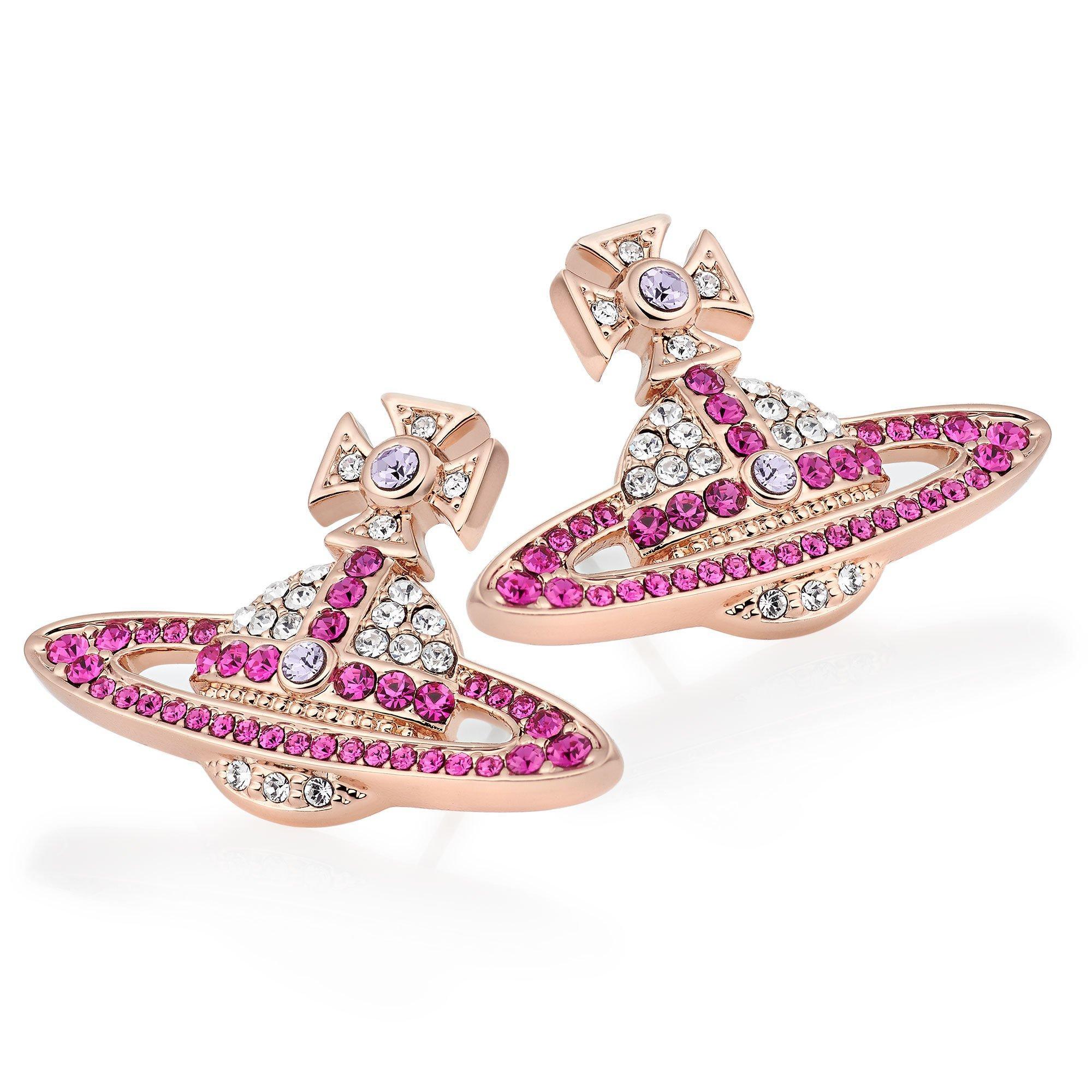 Vivienne Westwood Kika Rose Gold Tone Crystal Earrings
