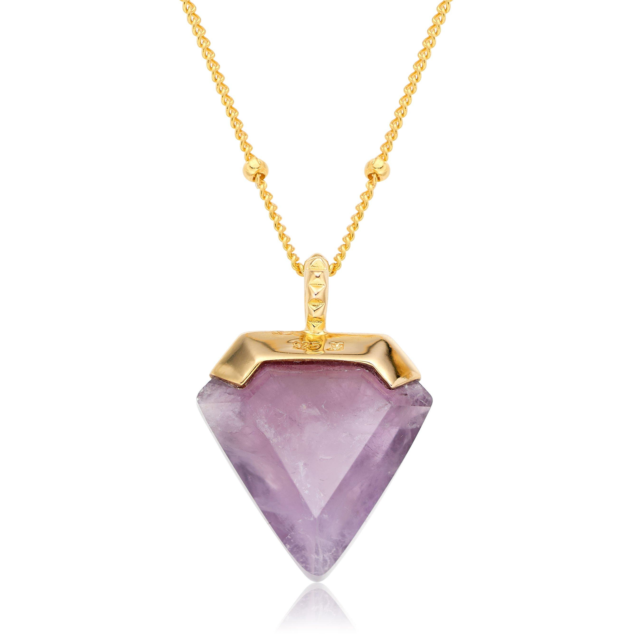 18ct Gold Plated Silver Amethyst Necklace