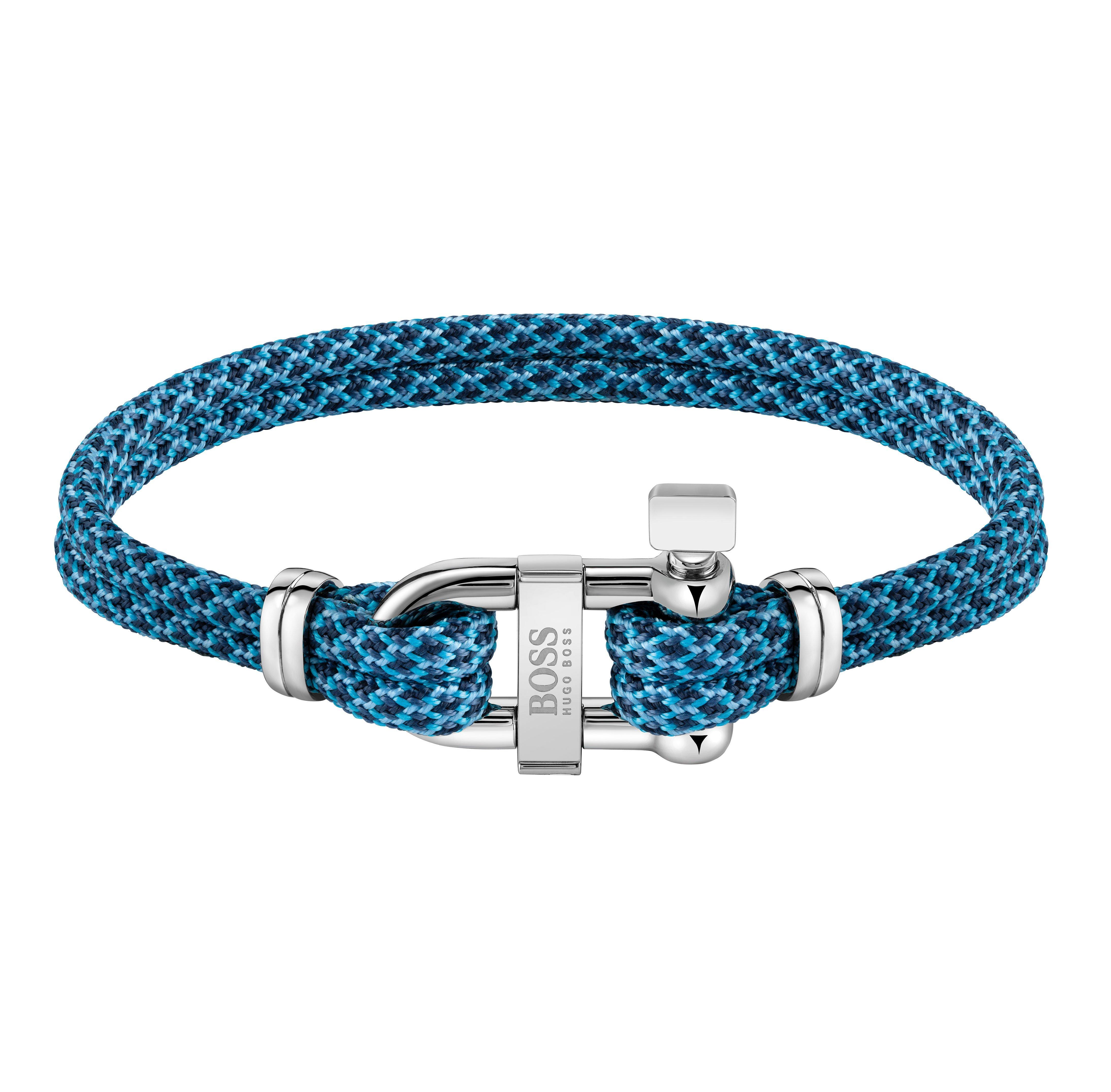 BOSS Sailing Blue Cord Men's Bracelet