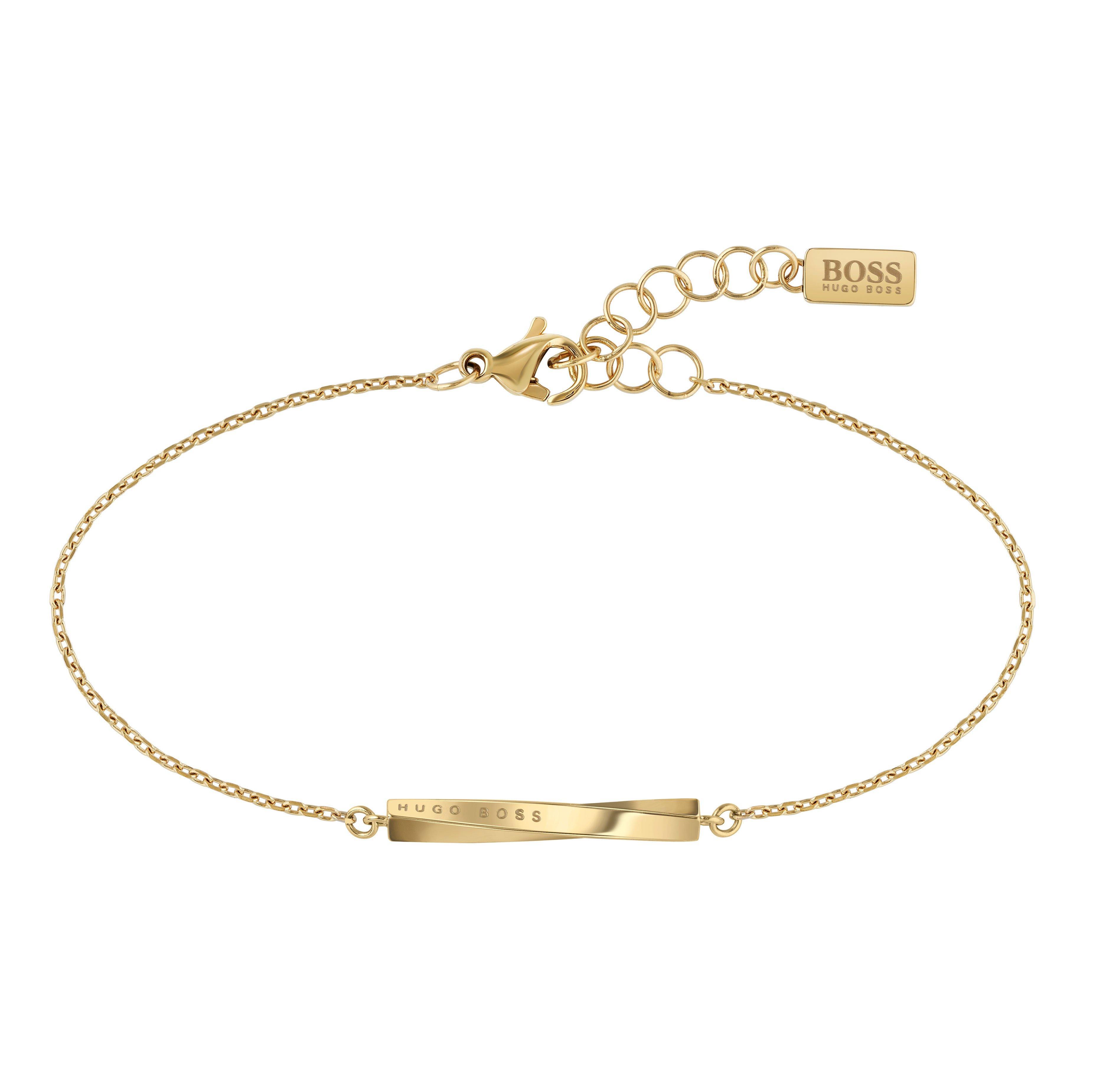 BOSS Signature Gold Tone Bracelet
