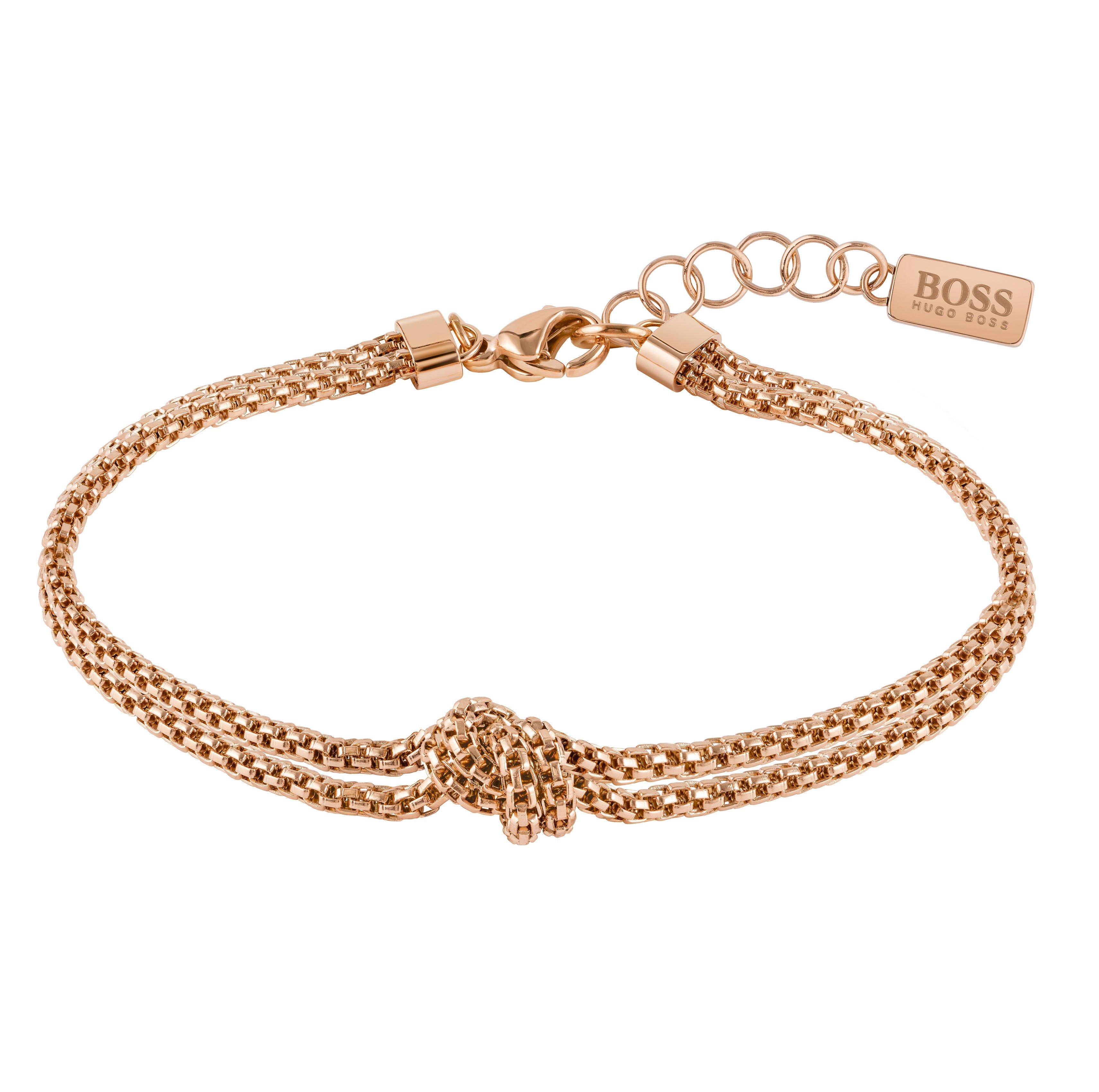 BOSS Rosette Rose Gold Tone Bracelet