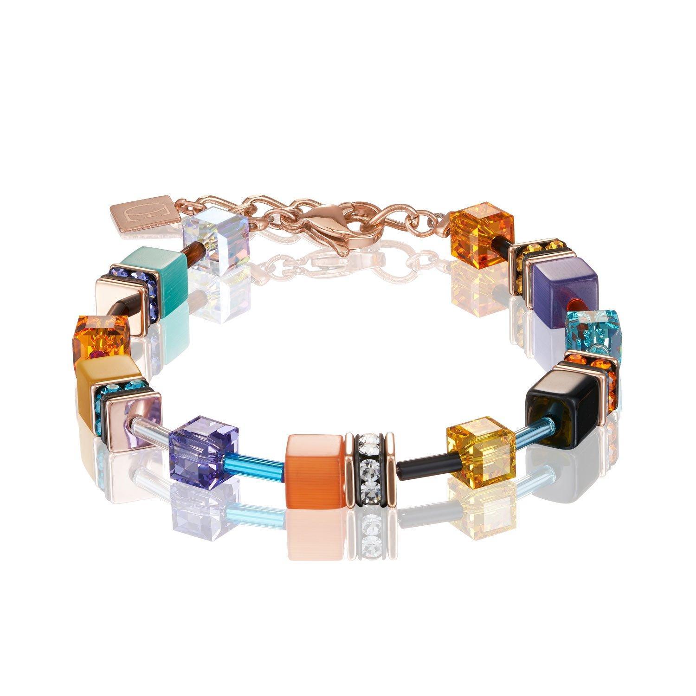 Coeur De Lion Geocube Rose Gold Tone Bracelet