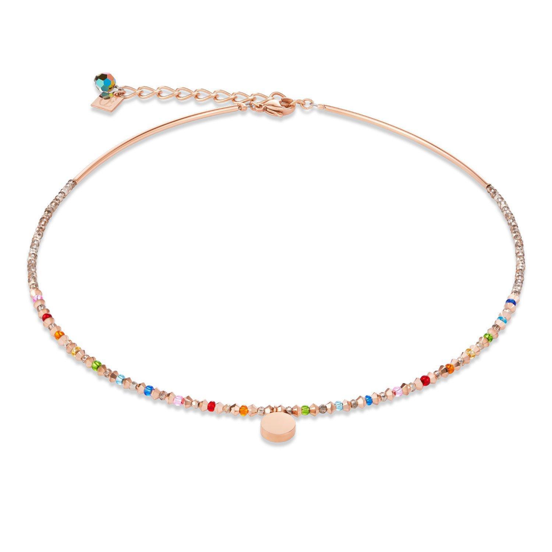Coeur De Lion Rose Gold Tone Multi-Coloured Necklace
