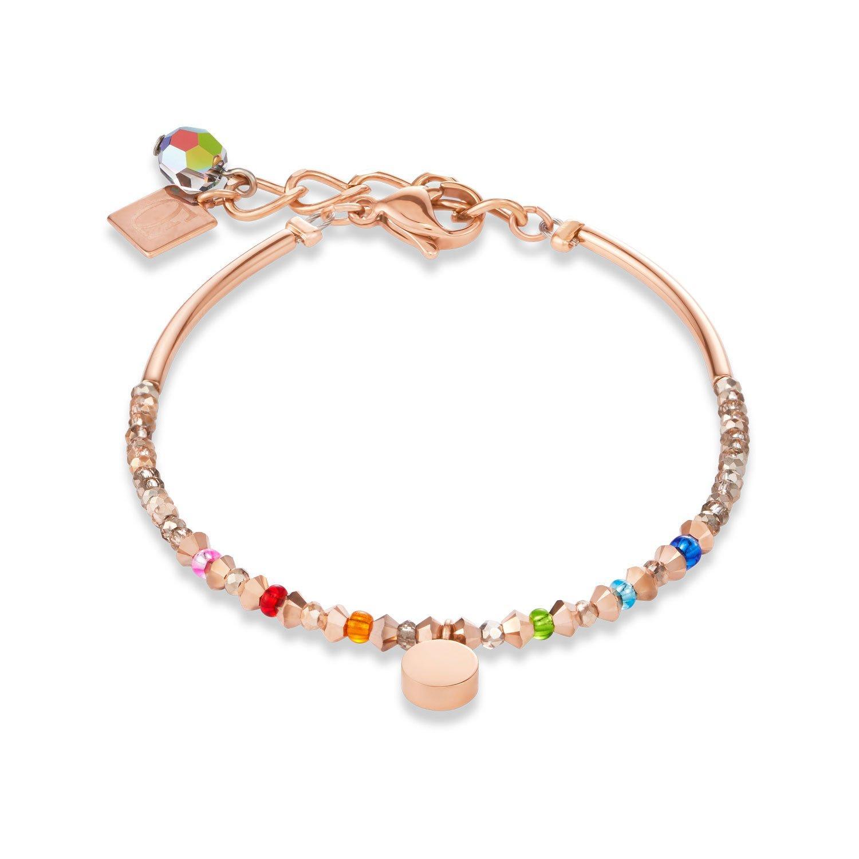 Coeur De Lion Rose Gold Tone Multi-Coloured Bracelet