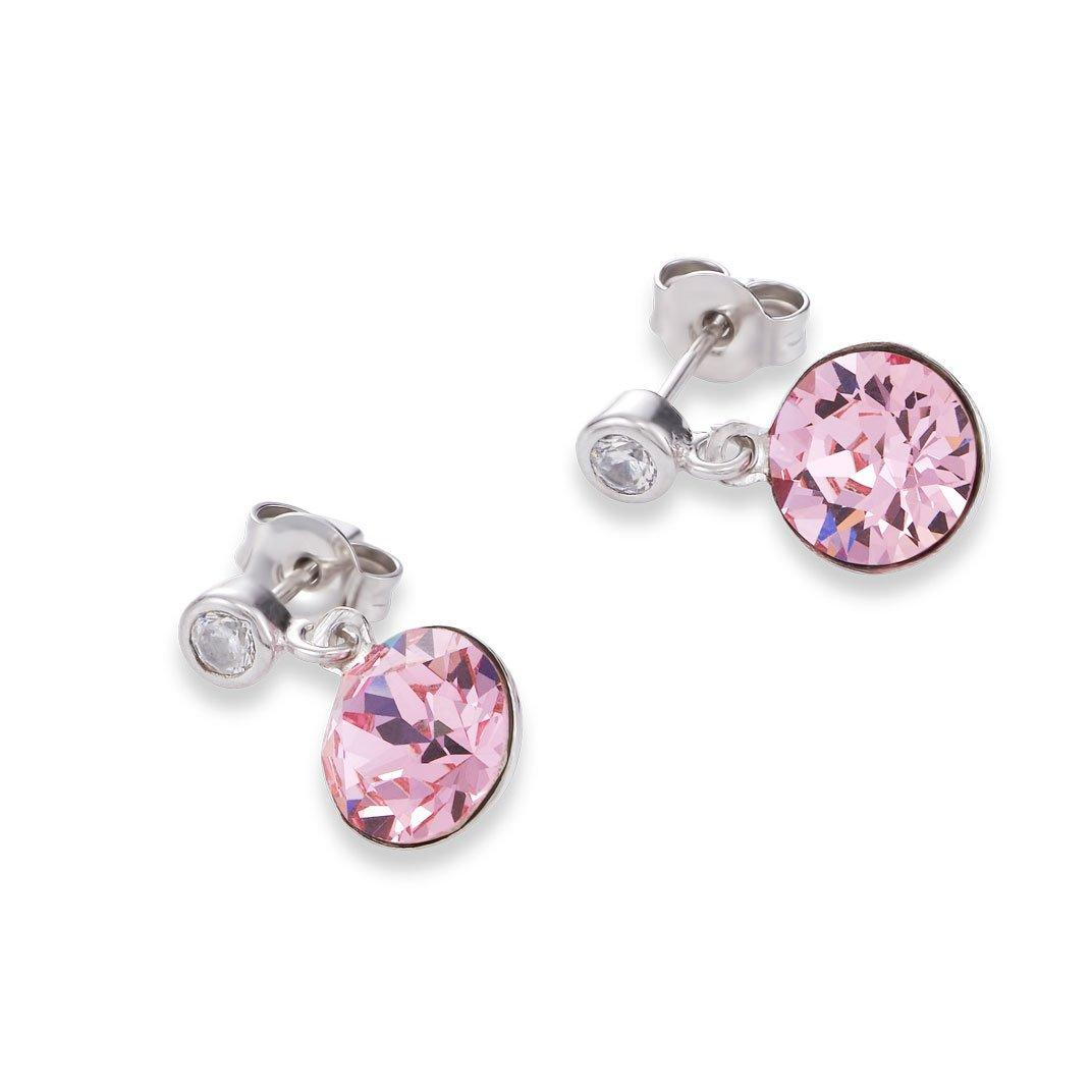 Coeur De Lion Silver Pink Earrings