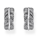 Thomas Sabo Silver Feather Hoop Earrings