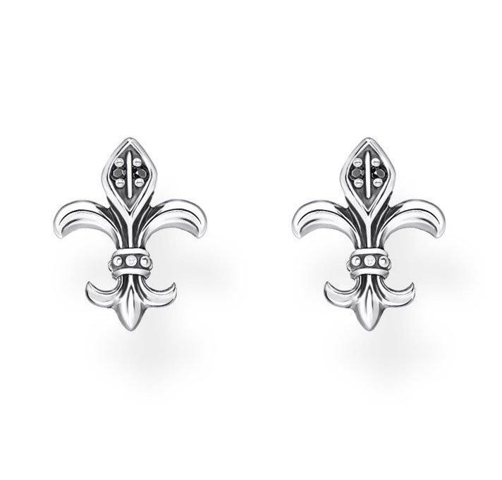 Thomas Sabo Silver Fleur-De-Lys Earrings