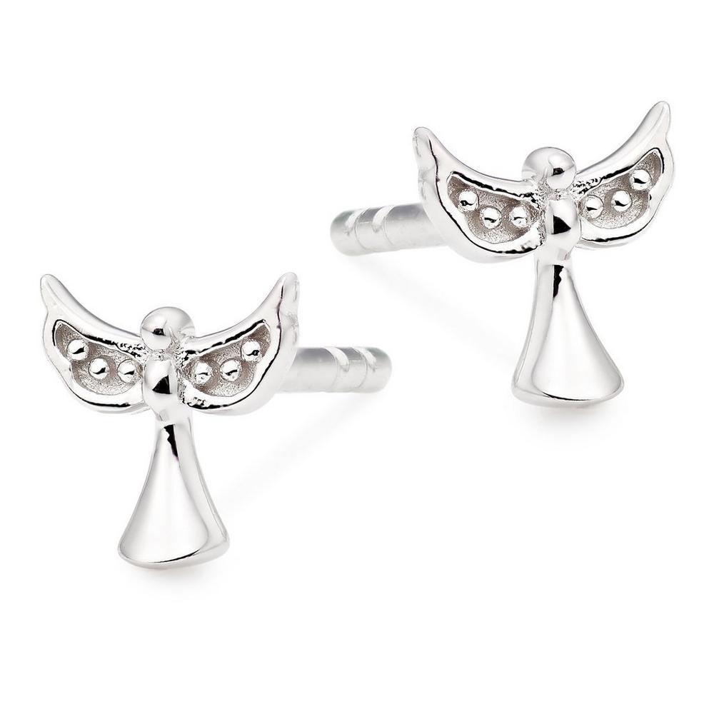 Silver Cubic Zirconia Angel Earrings
