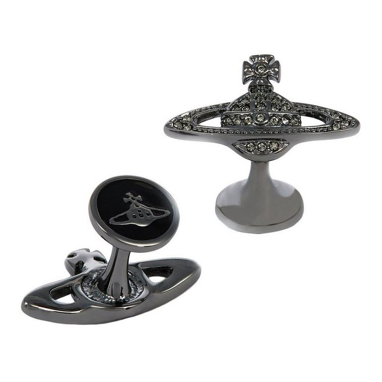 Vivienne Westwood Mini Bas Relief Black Tone Men's Cufflinks