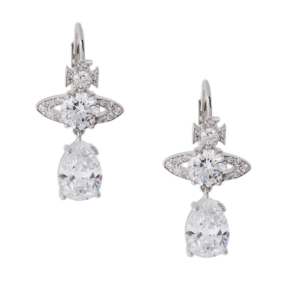 Vivienne Westwood Ismene Cubic Zirconia Drop Earrings