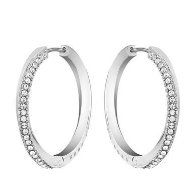 BOSS Signature Crystal Hoop Earrings