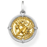 Thomas Sabo Faith, Love, Hope Gold Plated Silver Charm