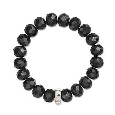 Thomas Sabo Silver Obsidian Bead Bracelet