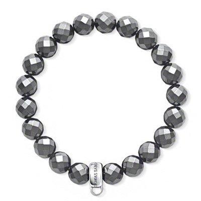 Thomas Sabo Silver Hematite Charm Bracelet