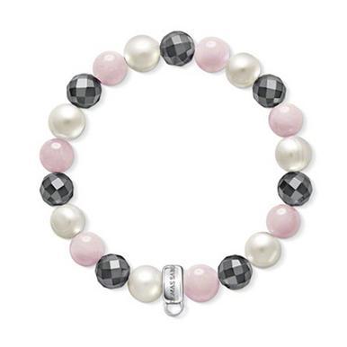 Thomas Sabo Pearl Haematite Rose Quartz Charm Bracelet