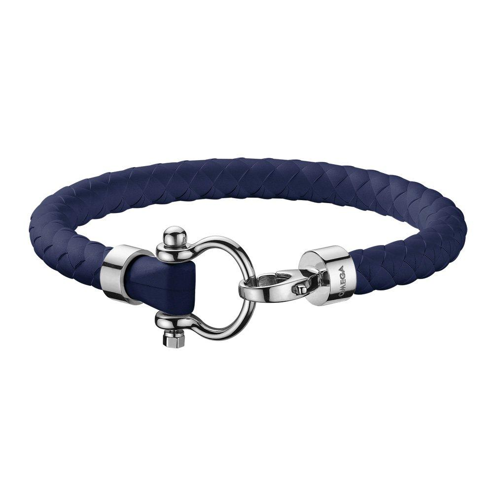 OMEGA Aqua Marine Blue Rubber Bracelet
